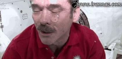 عکس های بسیار جالب و دیدنی از گریه کردن در فضا