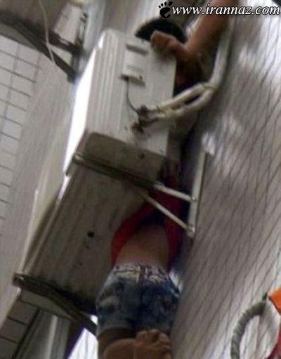 نجات معجزه آسای این پسر بوسیله کولر گازی (عکس)