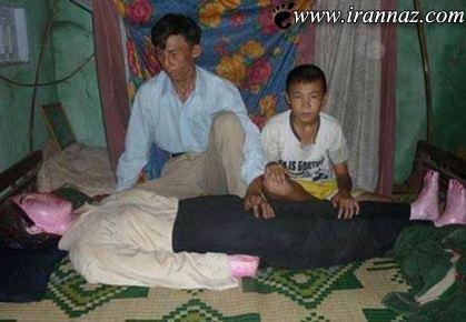 مردی که سالها با جنازه همسرش می خوابید (عکس)