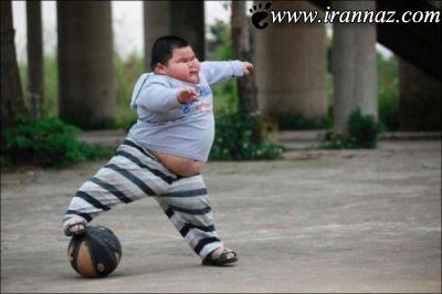 چاق ترین پسر بچه ی دنیا با وزن 62 کیلوگرم!! (عکس)