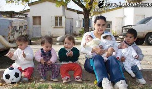 دختر 17 ساله که دارای 7 فرزند است (عکس)
