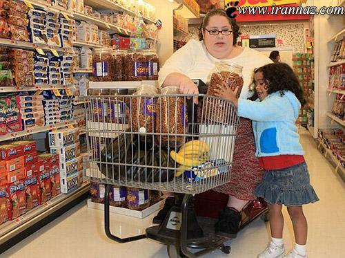 این خانم میخواهد چاق ترین فرد در جهان باشد (عکس)