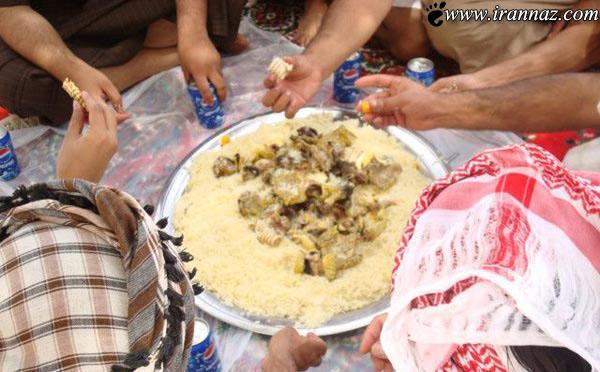 خوردن سوسمار های بیابانی توسط عربها (عکس)