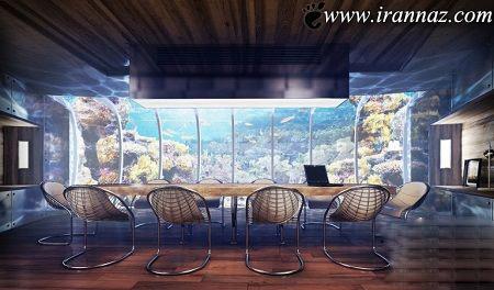 ساخت هتل بی نظیر در اعماق دریا (عکس)