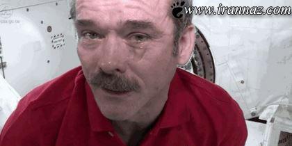 عکس های عجیب از گریه کردن انسان ها در فضا