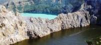 عکس های بی نظیری از دریاچه ی سه رنگ