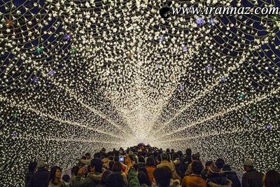 تصاویر باورنکردنی از تونل ساخته شده از نور