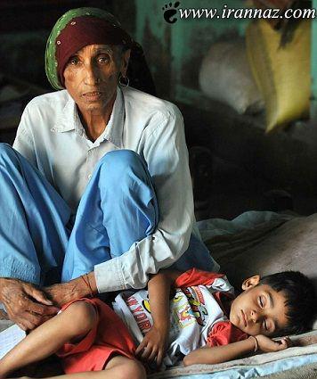 زندگی بسیار دردناک پیرترین مادر دنیا (عکس)