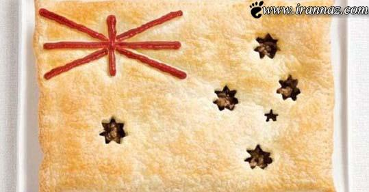 ساخت پرچم های خوردنی 17 کشور دنیا (عکس)
