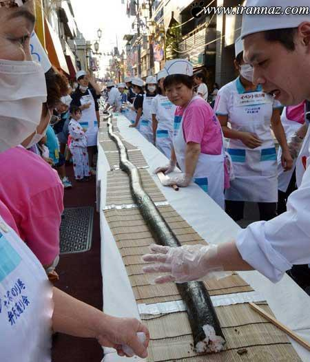 تصاویری از خوردن مار 120متری در ژاپن
