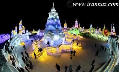 عکس های دیدنی و بی نظیر از قصرهای یخی