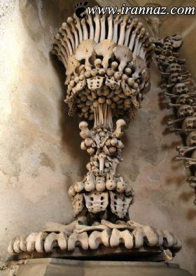 ساخت عجیب کلیسایی با استخوان انسان ها (عکس)