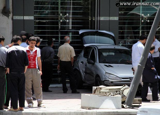 رخ دادن حادثه ی عجیب رانندگی در تهران (عکس)