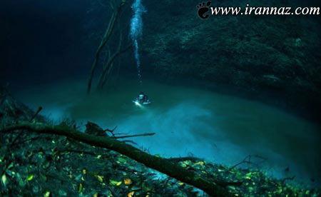 عکس هایی دیدنی از زیباترین رودخانه جهان در زیر دریا