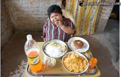 این دختر روزانه 10 کیلوگرم برنج می خورد (عکس)