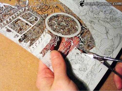 هنر باورنکردنی با استفاده از کاغذ (عکس)