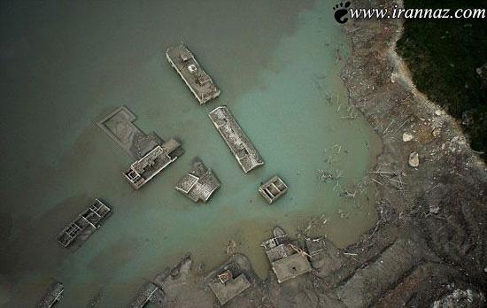 روستایی که بعد از 5 سال از زیر آب بیرون آمد (عکس)