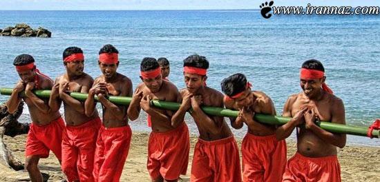مراسم بسیار عجیب بامبوجیلا در اندونزی (عکس)