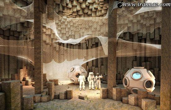 خانه های زیر زمینی ساخته شده در مریخ (عکس)