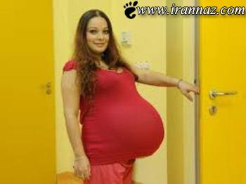 عکس های باورنکردنی از هیکل عجیب این زن باردار