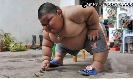 چاق ترین کودک سه ساله دنیا (عکس)