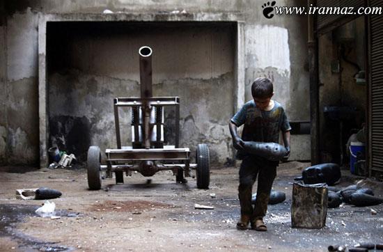 عکس هایی از پسر 10 ساله بزرگترین سازنده ی خمپاره