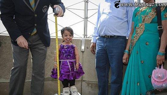 عکس هایی از کوتاه ترین و جالب ترین دخترک هندی