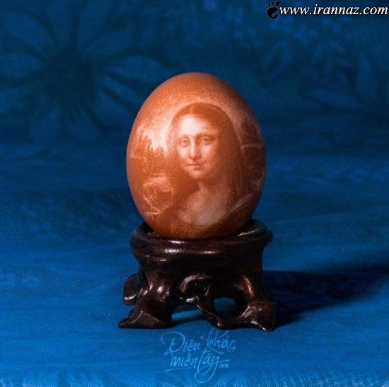 طراحی دیدنی و باورنکردنی بروی تخم مرغ (عکس)