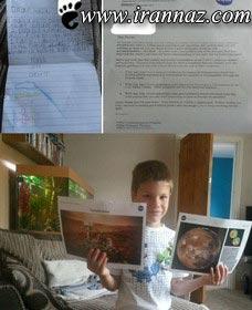 پسر 7 ساله باهوش فضانورد شد (عکس)
