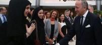 دختری که با کارش وزیر فرانسه را ضایع کرد (عکس)