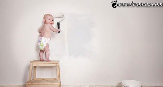 پدری که یک هنرمند واقعی است (عکس)