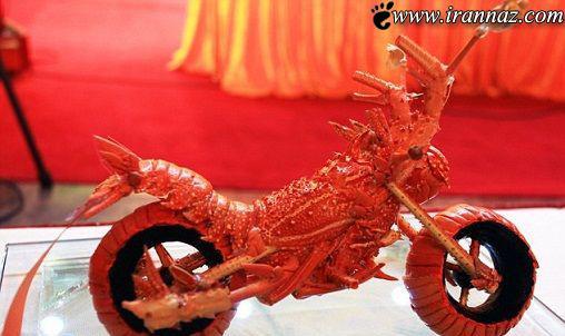 عکس هایی از هنرنمایی با استفاده از خرچنگ