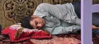 فردوسی پور و خوابیدن او روی تخت رستوران (عکس)