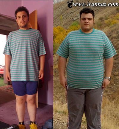 لاغر شدن باورنکردنی پسر ایرانی 196 کیلویی (عکس)