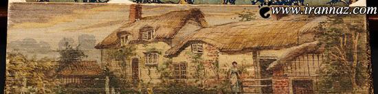 شاهکارهای نقاشی بروی لبه های کتاب (عکس)