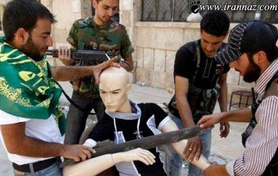 ابتکار باورنکردنی جالب سوری ها با مانکن ها (عکس)