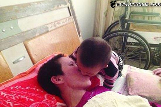 پسر 2 ساله ای که تبدیل به مادر شد (عکس)