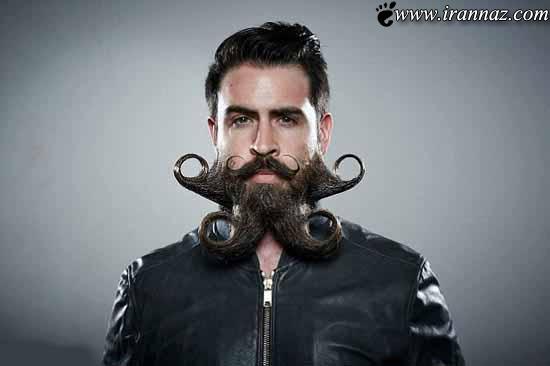 مردی با ریش های عجیبش جنجال به پا کرد (عکس)