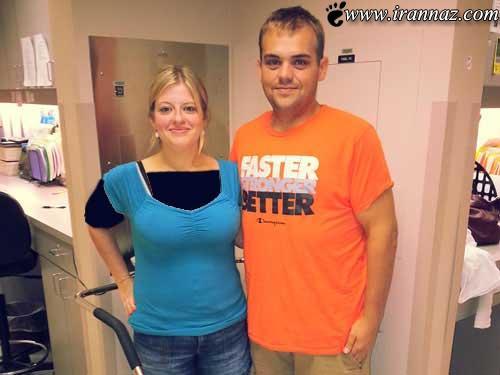 زوج بسیار چاقی که تبدیل به مانکن شدند (عکس)