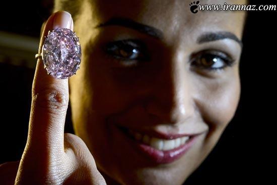 زیباترین و کمیاب ترین الماس صورتی در دنیا (عکس)