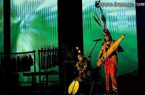 آمدن رقصنده های اندونزیایی  در برج میلاد (عکس)
