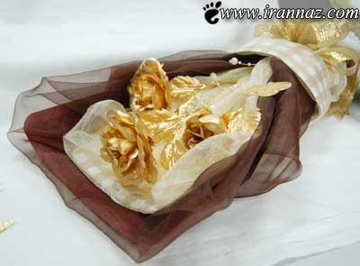 دسته گل جنجالی از جنس طلا خبرساز شد (عکس)