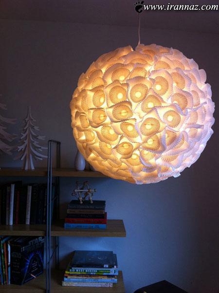 عکسهایی از آموزش ساخت چراغ خواب بسیار زیبا