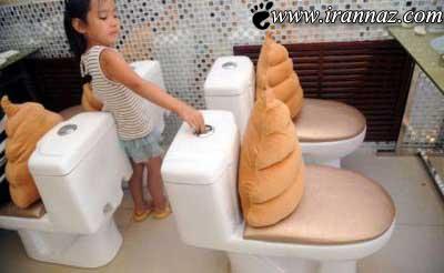 عکس هایی از رستوران ساخته شده با توالت در چین