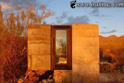 خانه ی دانشجویی شوکه کننده در بیابان (عکس)
