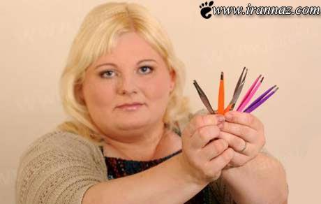 زنی که بطور مدوام موهای تنش را میکند (عکس)