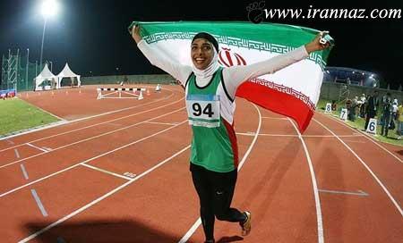 کار بسیار زیبای این زن دونده در مسابقه (عکس)