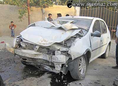 رانندگی بسیار عجیب این زن در شهریار (عکس)