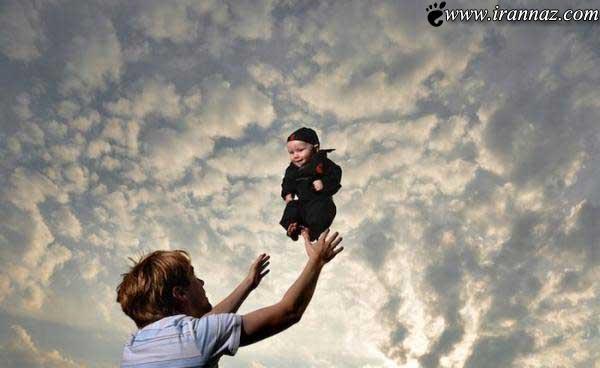عکس های عاشقانه عشق پدر به فرزندش