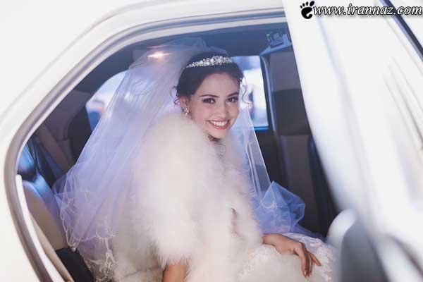 عروسی که در پمپ بنزین توسط داماد جا ماند (عکس)